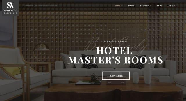 Modéle site wordpress hôtel